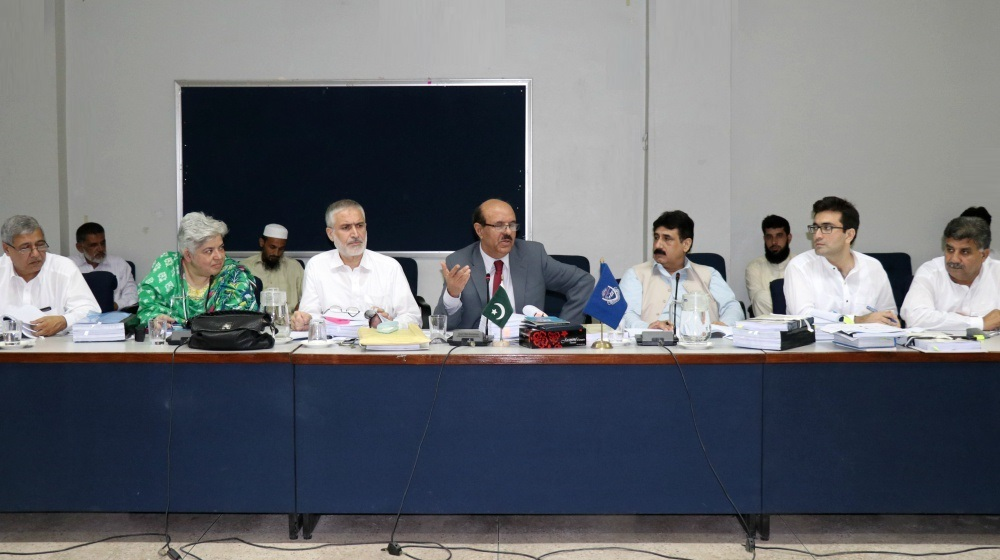 Vice Chancellor UoP Prof. Dr. Muhammad Asif Khan chairing meeting of the Academic Council of the University of Peshawar