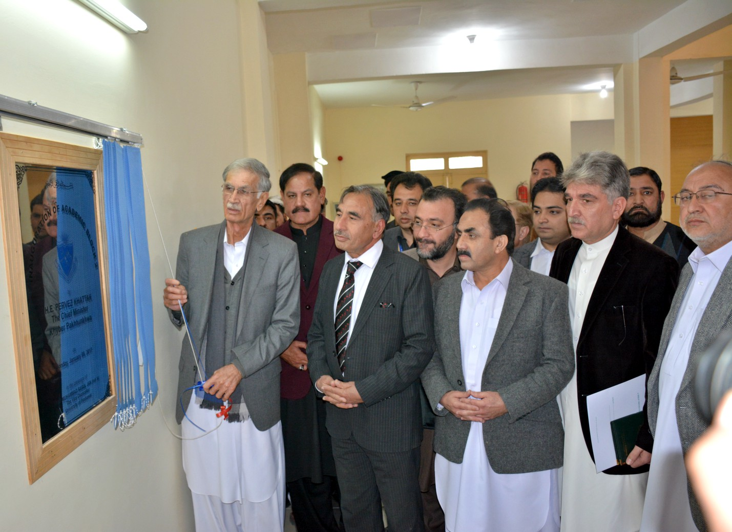 Chief Minister Khyber Pukhtunkhwa Mr. Pervez Khattak Inaugurating Academic Block at UoP