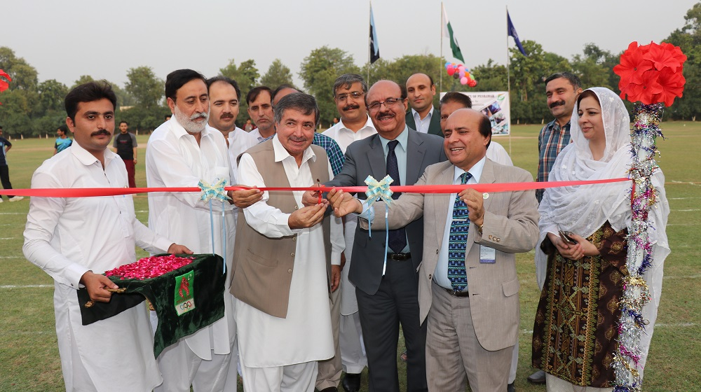 Vice Chancellor UoP Prof. Dr. Muhammad Asif Khan inaugurating HEC 15 years Celebrations at the University of Peshawar