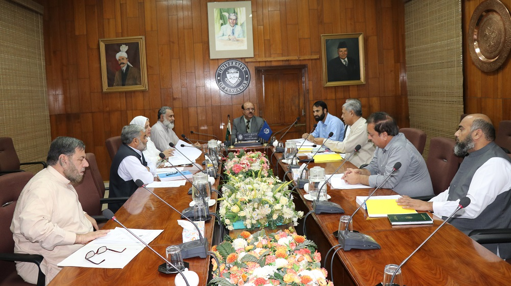 Vice Chancellor University of Peshawar Prof. Dr. Muhammad Asif Khan is presiding over the meeting of Advances Studies and Research Board (ASRB)