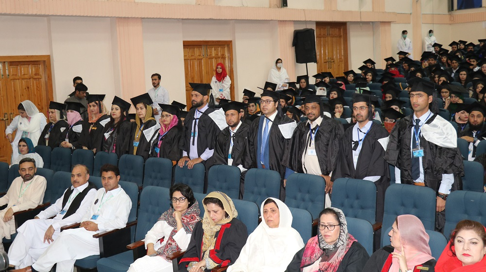 PhD scholars are queuing up for their respective turn to receive the gold medals from the worthy Vice Chancellor University of Peshawar on the eve of convocation on 3rd may, 2019.