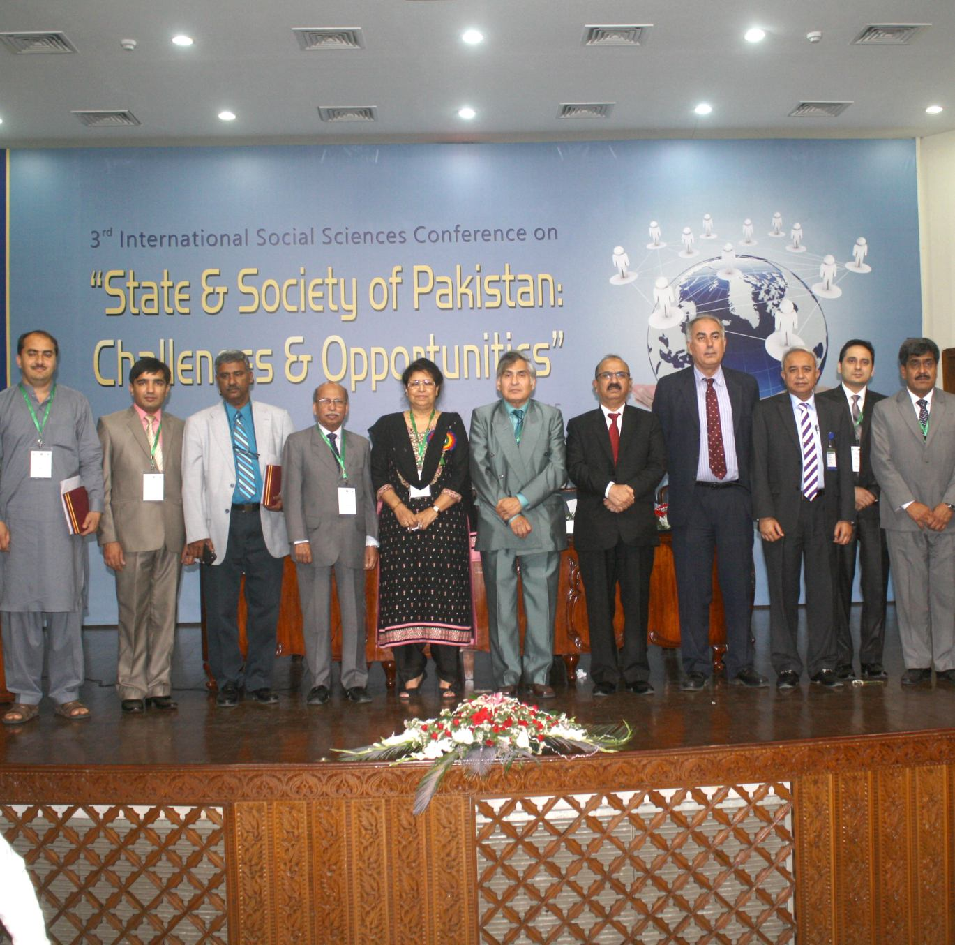 Group photo of participants of conference on social sciences held at the HEC, Islamabad